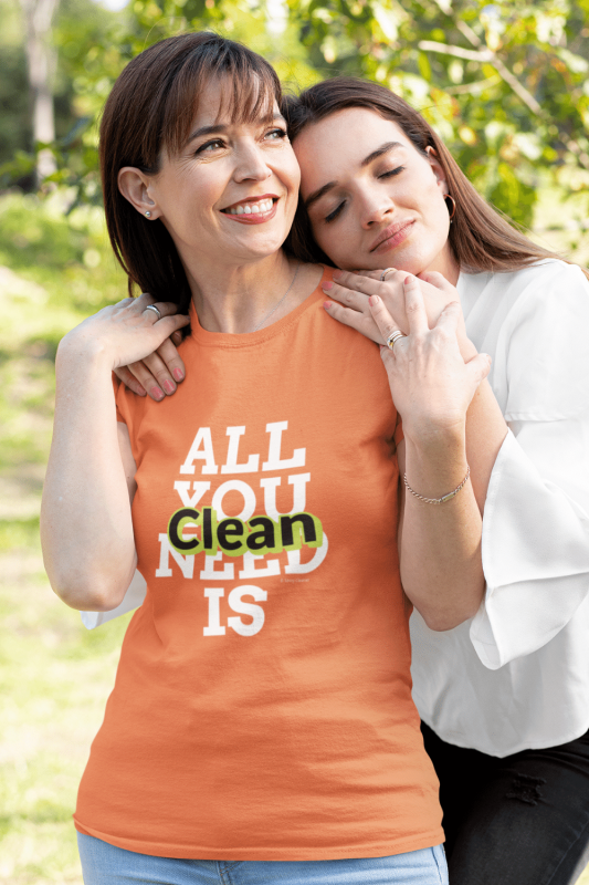 All You Need is Clean Savvy Cleaner Funny Cleaning Shirts Standard Tee Shirt
