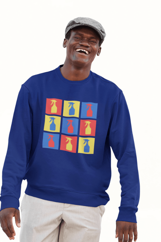 Andy SprayAll, Savvy Cleaner, Funny Cleaning Shirts, Classic Crewneck Sweatshirt