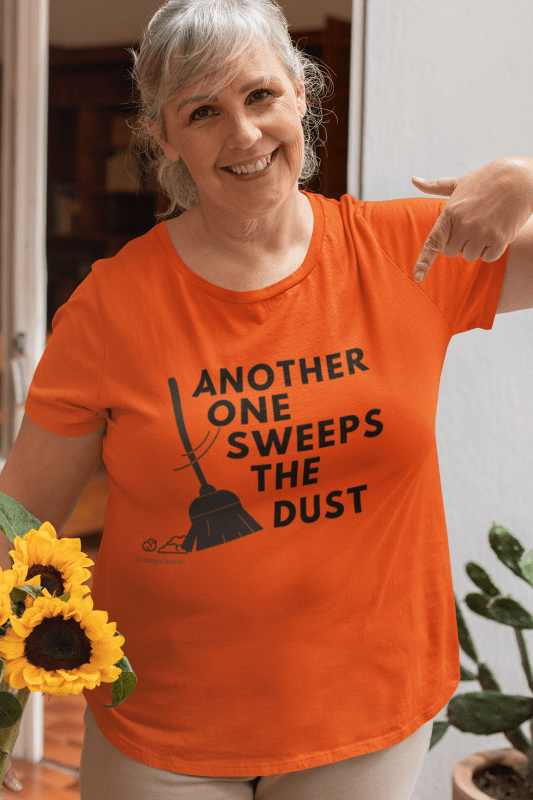 Another One Sweeps the Dust, Savvy Cleaner T-Shirt, Older Woman