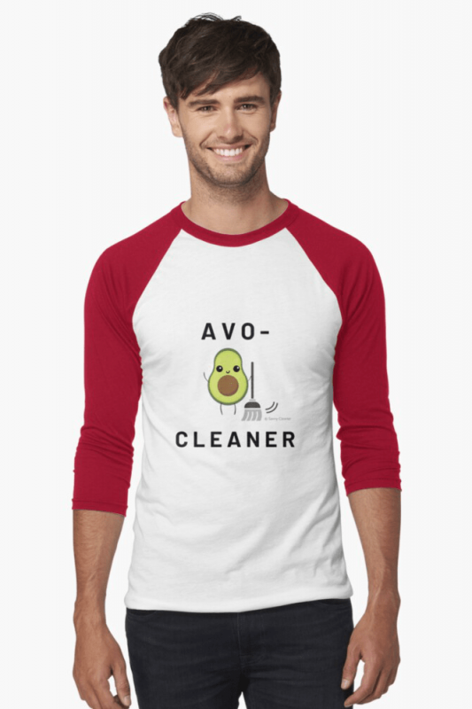 Avo-Cleaner, Savvy Cleaner Funny Cleaning Shirts, Baseball Shirt