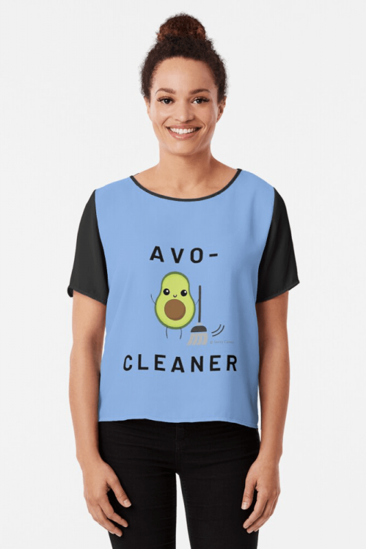 Avo-Cleaner, Savvy Cleaner Funny Cleaning Shirts, Chiffon Shirt