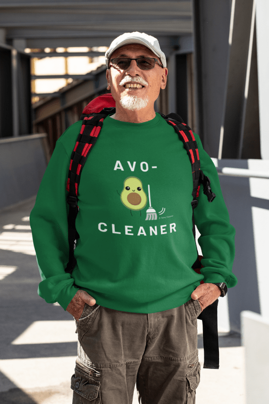 Avo-Cleaner, Savvy Cleaner Funny Cleaning Shirts, Classic Crewneck Sweatshirt