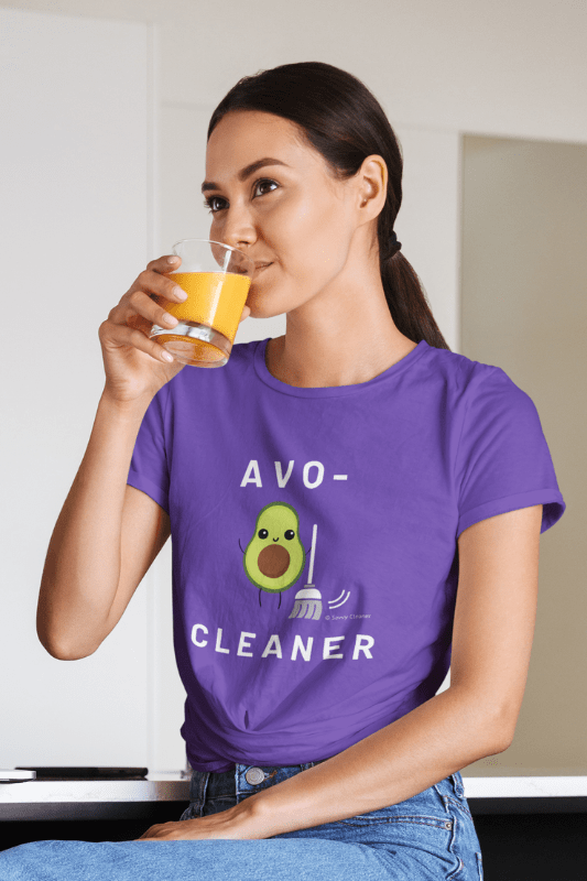 Avo-Cleaner, Savvy Cleaner Funny Cleaning Shirts, Women's Boyfriend T-Shirt