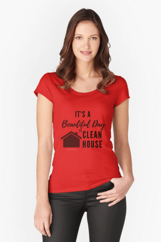 Beautiful Day to Clean House, Savvy Cleaner Funny Cleaning Shirts Slouch Tee