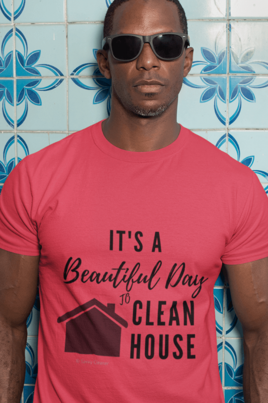 Beautiful Day to Clean House, Savvy Cleaner Funny Cleaning Tri-Blend T-Shirt