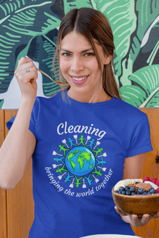 Bringing the World Together Savvy Cleaner Funny Cleaning Shirts Women's Boyfriend T-Shirt