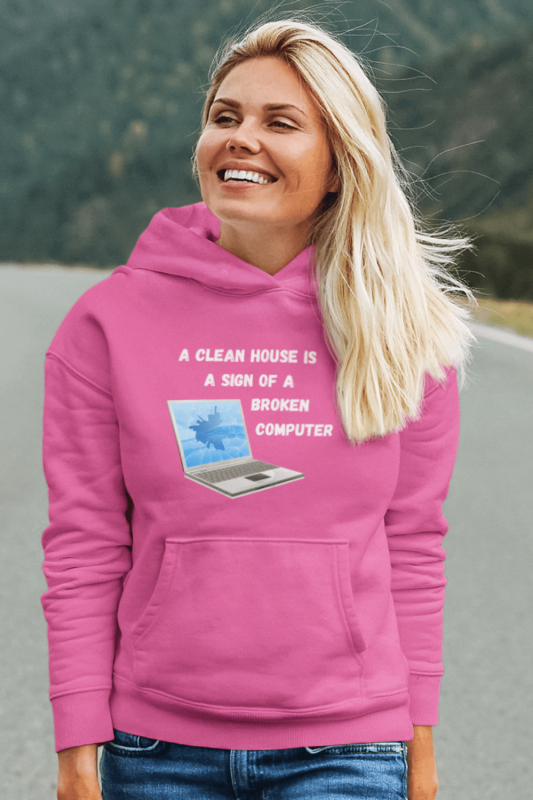 Broken Computer Savvy Cleaner Funny Cleaning Shirts Classic Pullover Hoodie