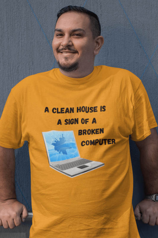 Broken Computer Savvy Cleaner Funny Cleaning Shirts Classic Tee