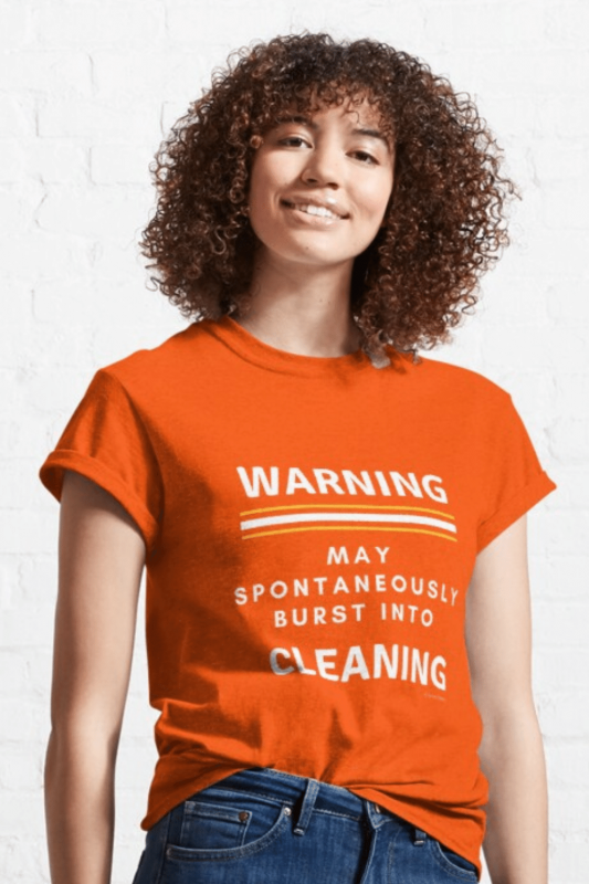 Burst Into Cleaning Savvy Cleaner Funny Cleaning Shirts Classic T-Shirt