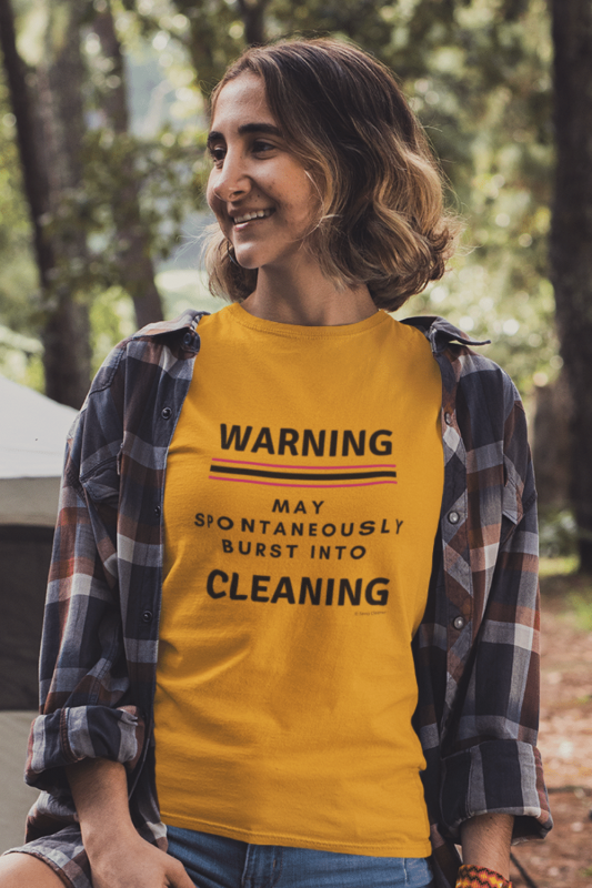Burst Into Cleaning Savvy Cleaner Funny Cleaning Shirts Classic Tee