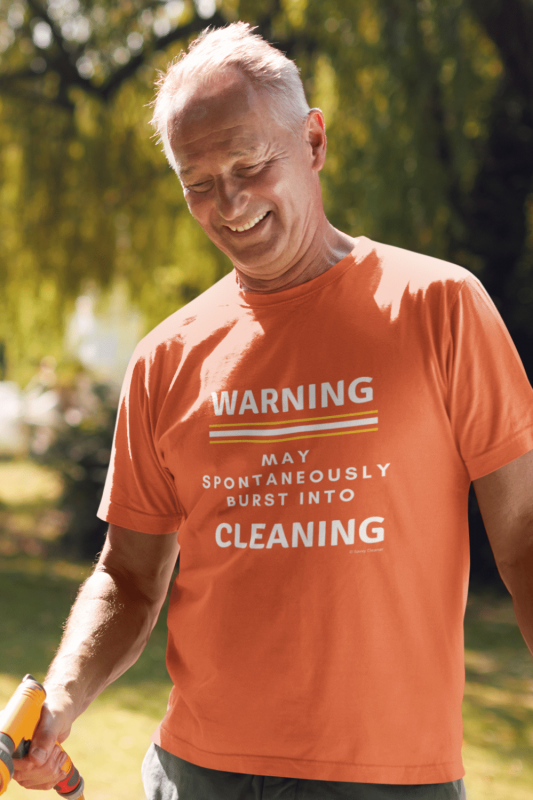 Burst Into Cleaning Savvy Cleaner Funny Cleaning Shirts Men's Standard T-Shirt