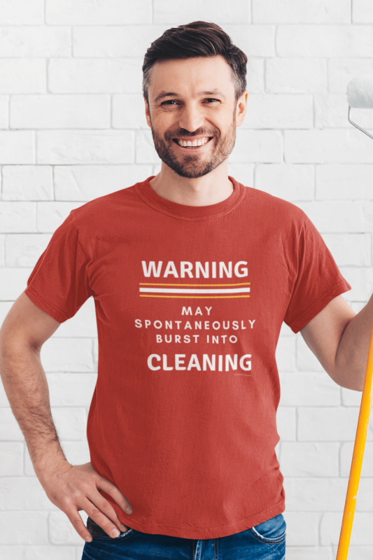 Burst Into Cleaning Savvy Cleaner Funny Cleaning Shirts Men's Standard Tee