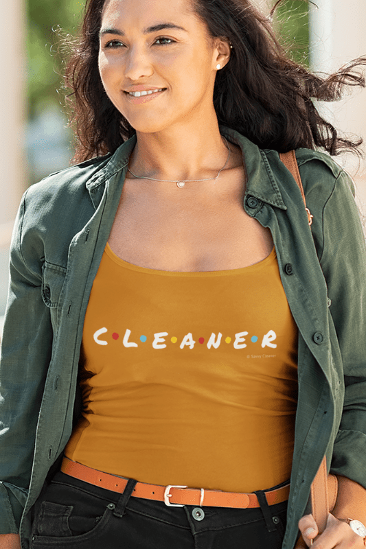 CLEANER, Savvy Cleaner Funny Cleaning Shirts, Classic Tank Top