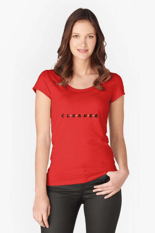 CLEANER, Savvy Cleaner Funny Cleaning Shirts, Scoop Neck shirt