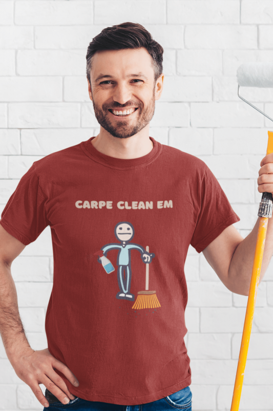 Carpe Clean Em Savvy Cleaner Funny Cleaning Shirts Men's Standard T-Shirt