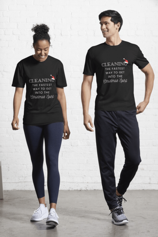 Christmas Spirit, Savvy Cleaner Funny Cleaning Shirts, Active Shirt