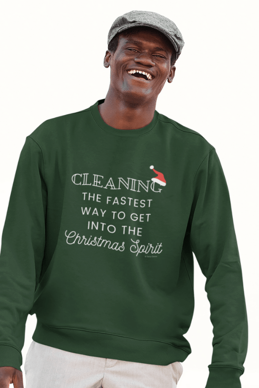 Christmas Spirit, Savvy Cleaner Funny Cleaning Shirts, Classic Crewneck Sweatshirt