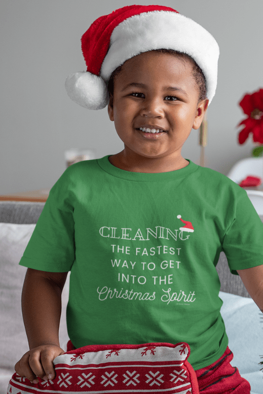 Christmas Spirit, Savvy Cleaner Funny Cleaning Shirts, Kids Premium T-Shirt