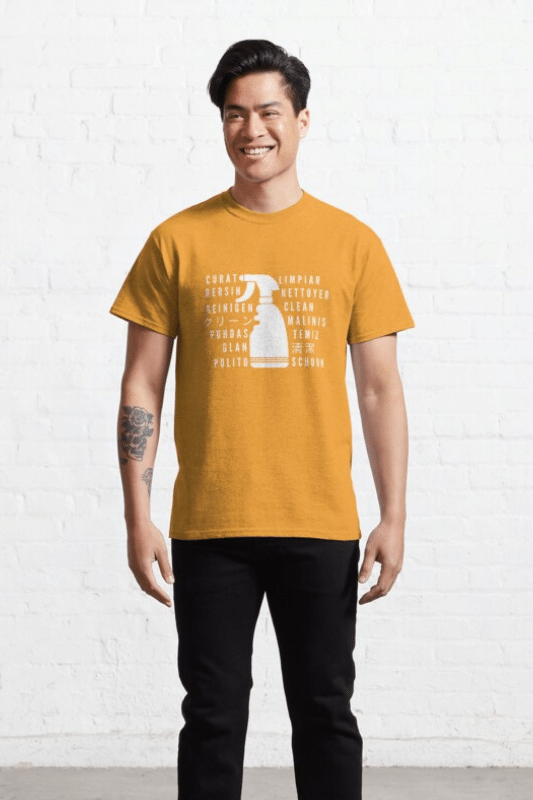 Clean In Every Language Savvy Cleaner Funny Cleaning Shirts Classic Tee