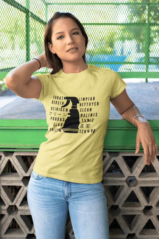 Clean In Every Language Savvy Cleaner Funny Cleaning Shirts Standard T-Shirt