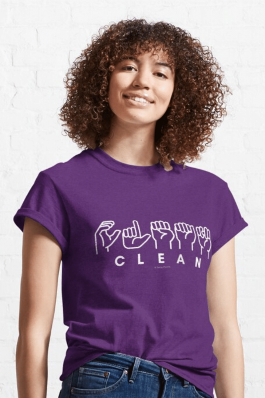 Clean Sign Language Savvy Cleaner Funny Cleaning Shirts Classic T-Shirt
