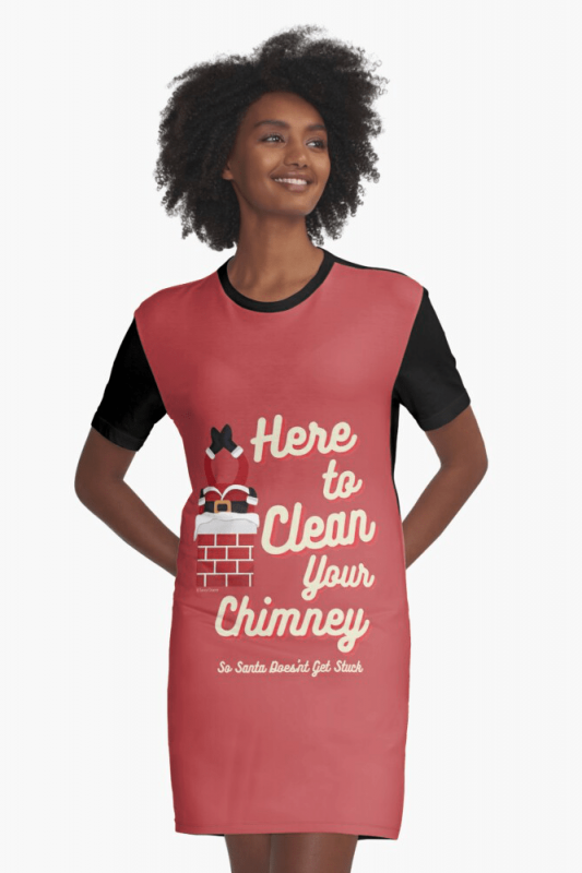 Clean Your Chimney, Savvy Cleaner, Funny Cleaning Shirts, Graphic Dress