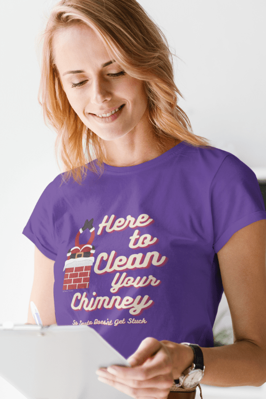 Clean Your Chimney, Savvy Cleaner, Funny Cleaning Shirts, Women's Boyfriend T-Shirt