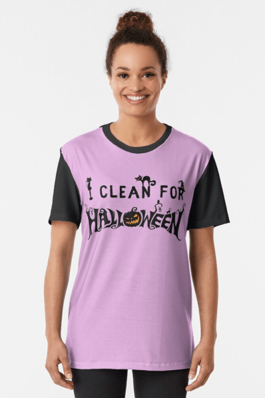 Clean for Halloween, Savvy Cleaner, Funny Cleaning Shirts, Graphic Shirt