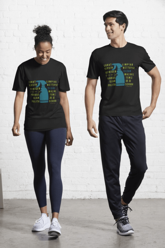 Clean in every Language, Savvy Cleaner Funny Cleaning shirt, Active Shirt