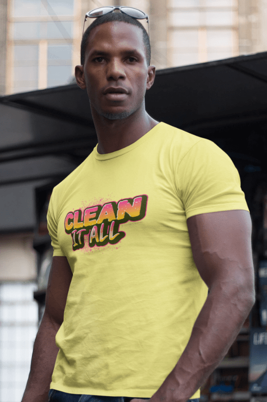 Clean it All, Savvy Cleaner Funny Cleaning Shirts, Comfort T-Shirt