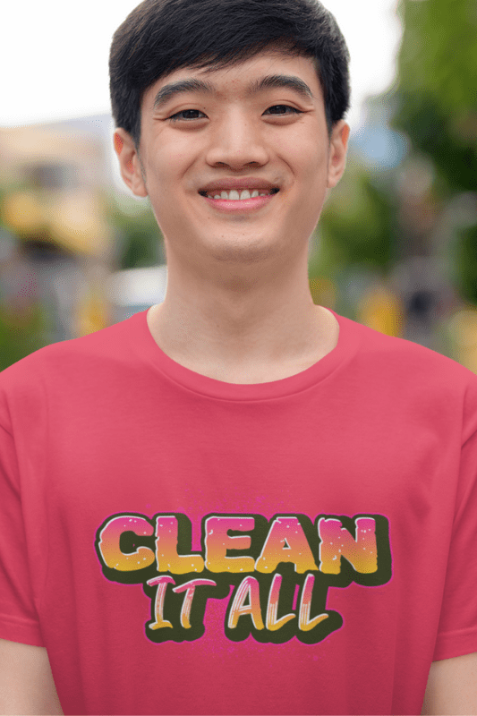 Clean it All, Savvy Cleaner Funny Cleaning Shirts, Triblend T-Shirt