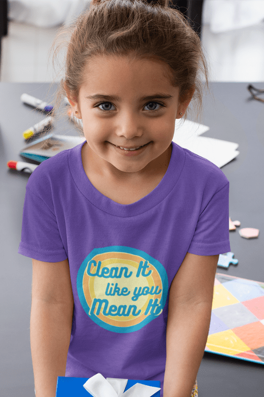 Clean it Like You Mean It, Savvy Cleaner Funny Cleaning Shirts, Kids Premium T-Shirt