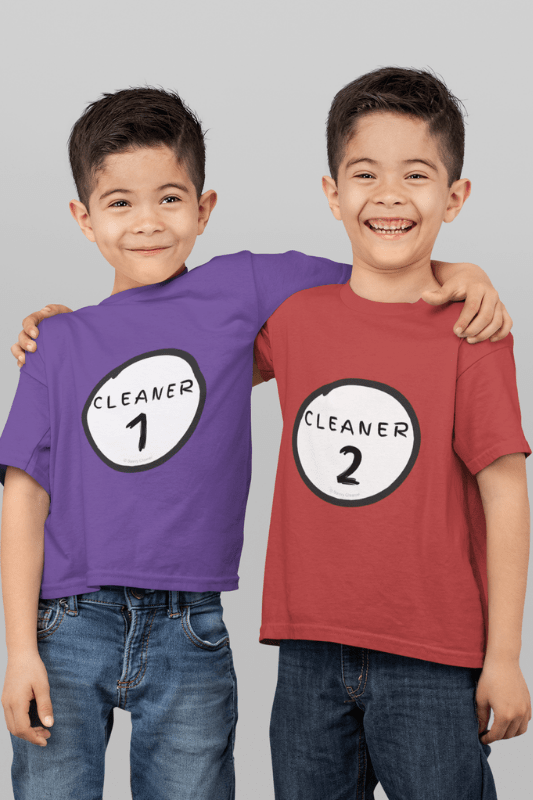 Cleaner 1, Savvy Cleaner Funny Cleaning Shirts, Kids Premium T-Shirt