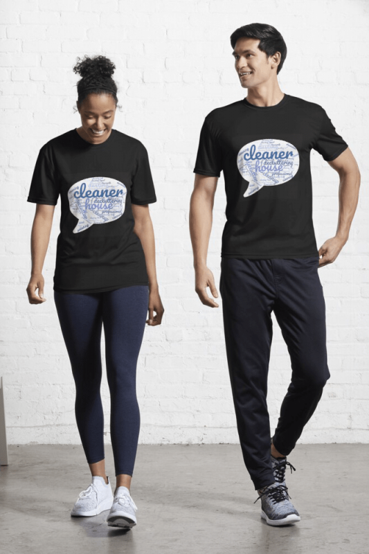 Cleaner Speech Cloud, Savvy Cleaner Funny Cleaning Shirts, Active shirt