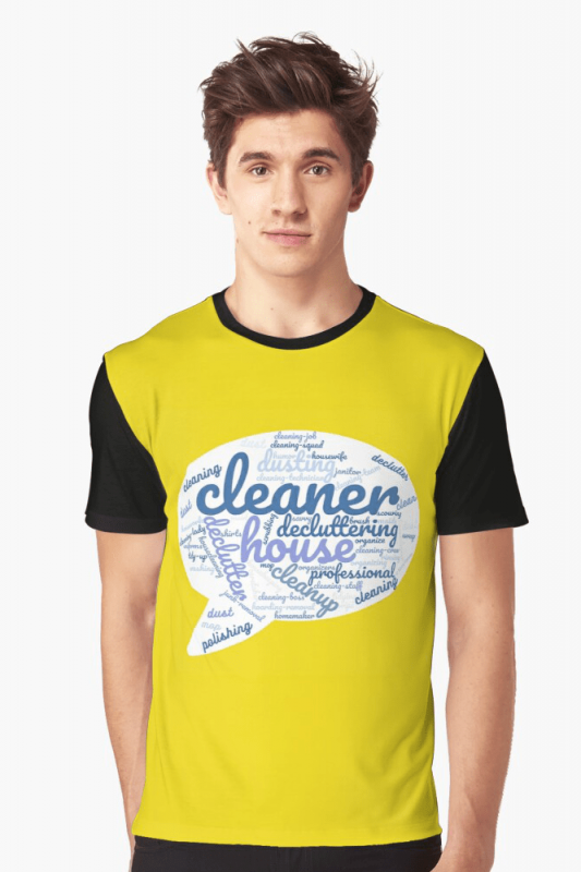 Cleaner Speech Cloud, Savvy Cleaner Funny Cleaning Shirts, Graphic shirt