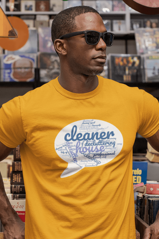 Cleaner Speech Cloud, Savvy Cleaner Funny Cleaning Shirts, Premium Tee