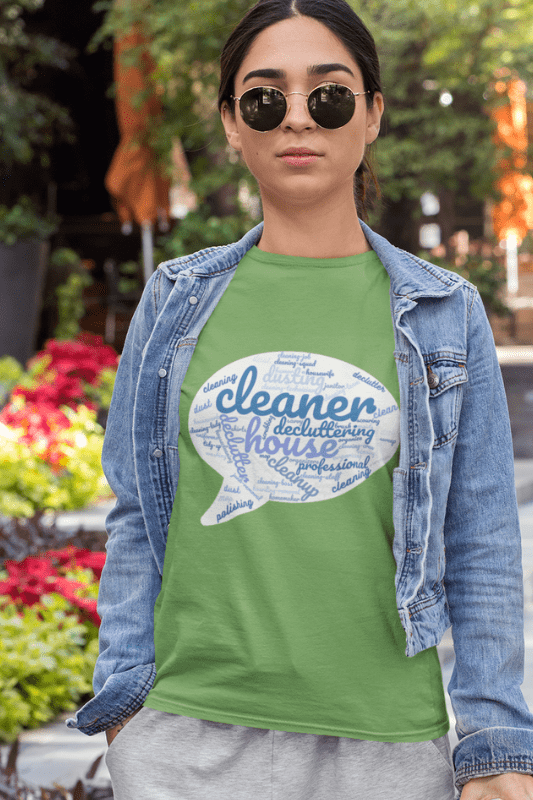Cleaner Speech Cloud, Savvy Cleaner Funny Cleaning Shirts, Standard Tee