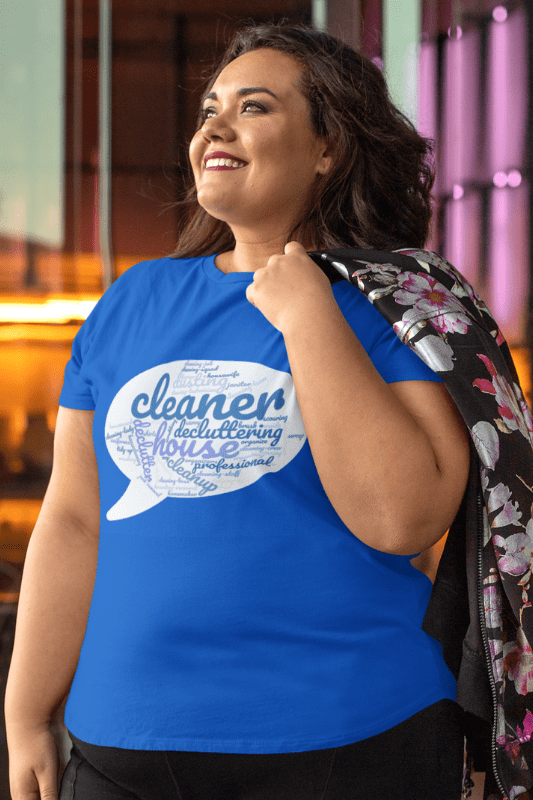 Cleaner Speech Cloud, Savvy Cleaner Funny Cleaning Shirts, Women's Boyfriend T-Shirt