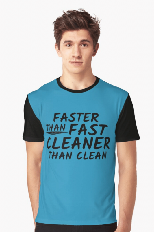 Cleaner Than Clean Savvy Cleaner Funny Cleaning Shirts Graphic Tee