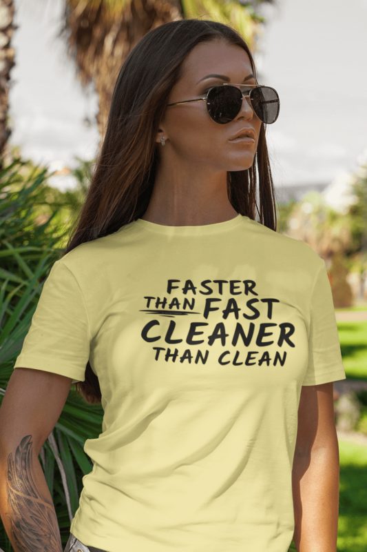 Cleaner Than Clean Savvy Cleaner Funny Cleaning Shirts Premium Tee