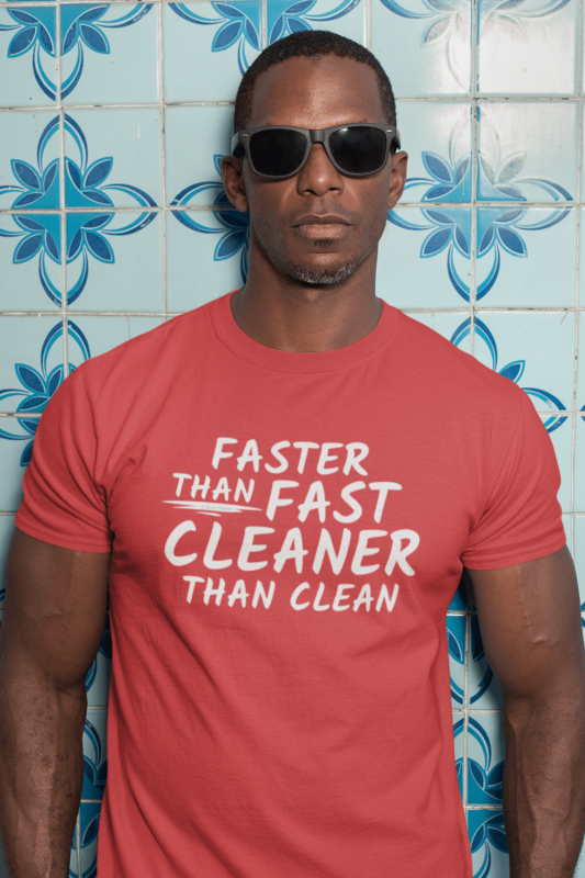 Cleaner Than Clean Savvy Cleaner Funny Cleaning Shirts Tri-blend Tee