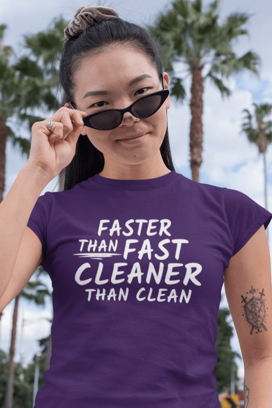 Cleaner Than Clean Savvy Cleaner Funny Cleaning Shirts Women's Standard T-Shirt