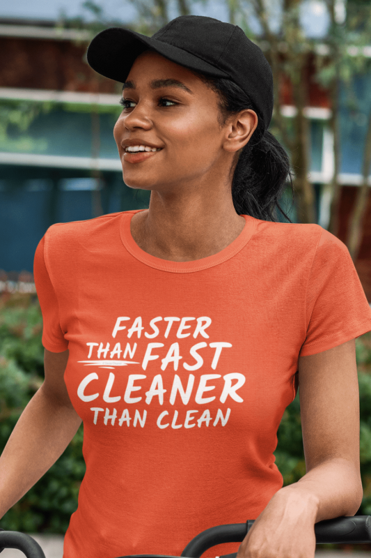 Cleaner Than Clean Savvy Cleaner Funny Cleaning Shirts Women's Standard Tee