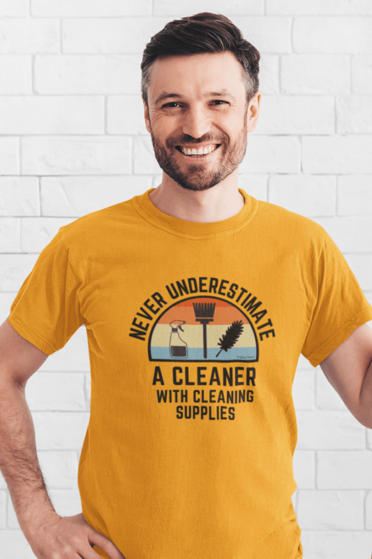 Cleaner With Cleaning Supplies Savvy Cleaner Funny Cleaning Shirts Classic Tee