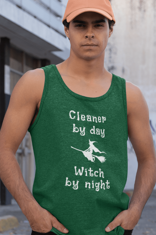 Cleaner by Day Savvy Cleaner Funny Cleaning Shirts Premium Tank Top