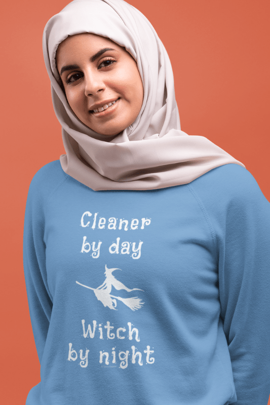 Cleaner by Day Savvy Cleaner Funny Cleaning Shirts Women's Slouchy Sweatshirt