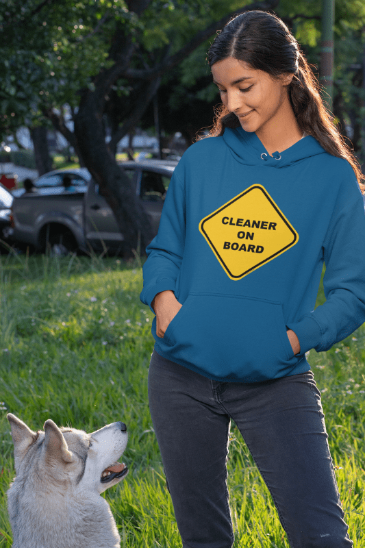 Cleaner on Board, Savvy Cleaner Funny Cleaning Shirts, Pullover Hoodie