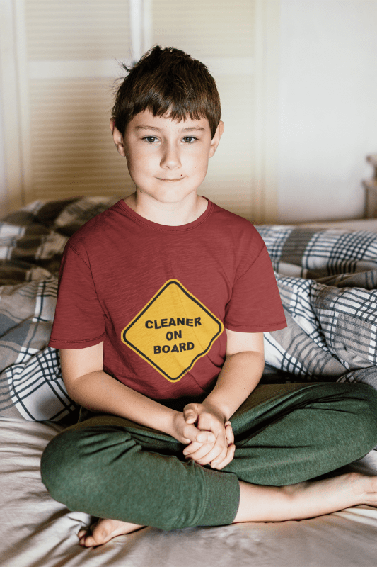 Cleaner on Board, Savvy Cleaner Funny Cleaning Shirts, Standard Tee
