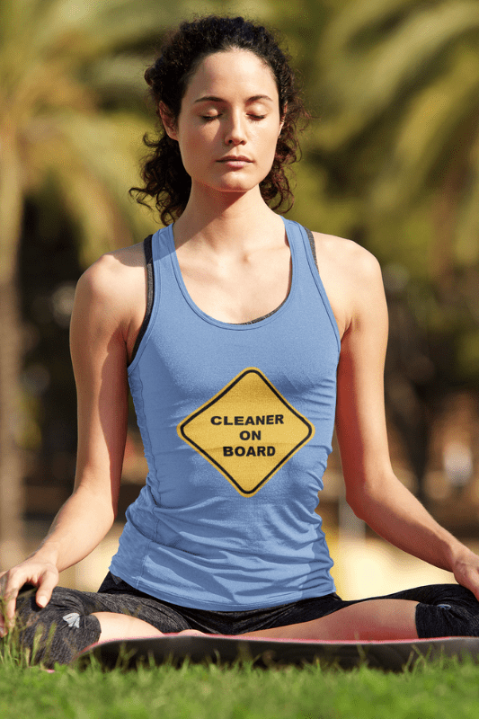 Cleaner on Board, Savvy Cleaner Funny Cleaning Shirts, Tank Top