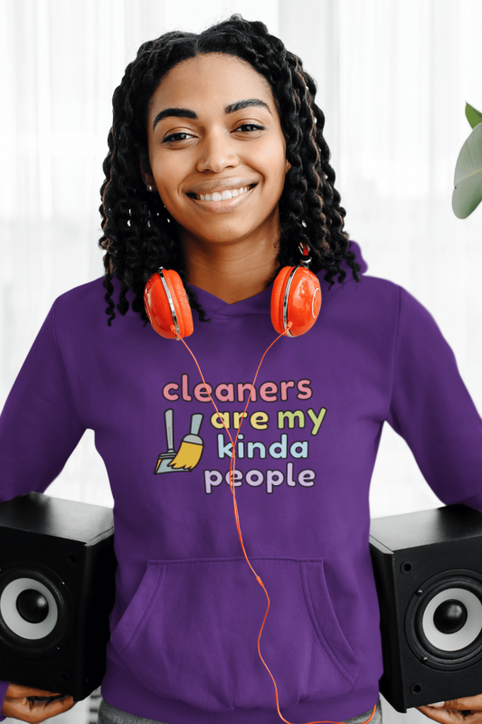 Cleaners Are My Kind of People Savvy Cleaner Funny Cleaning Shirts Classic Pullover Hoodie